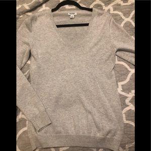 Gray old navy v-neck sweater, size Medium